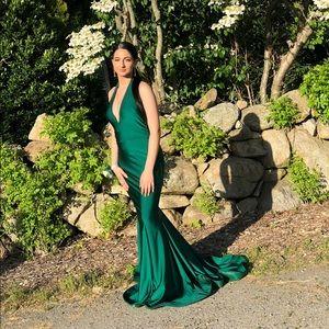 Jessica Angel Emerald Green Prom Dress